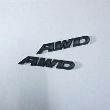 2x Metal AWD Matte Black Emblem Decal Sticker Badge limited 4x4 Limited Car 3D