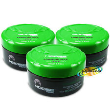 3x Moosehead formando CERA 100g gestibili capelli stile medium hold Seal doppie punte