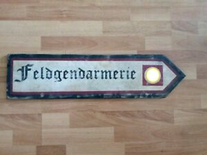 Panneau routier allemand WW2 : FELDGENDARMERIE