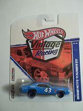 Hot Wheels Vintage Racing Richard Petty '71 Plymouth GTX Error NoGrill Rare