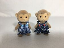 Calico Critters/sylvanian Families Mango Monkey Brother & Sister