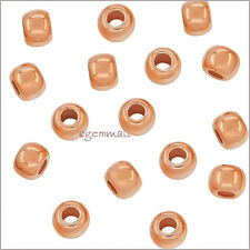 30 Rose Gold Plated Sterling Silver Seamless Round Spacer Crimp Beads 2mm #51069