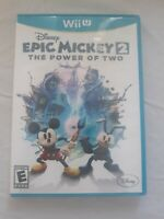 Disney Epic Mickey 2: The Power of Two (Nintendo Wii U, 2012) Complete Tested