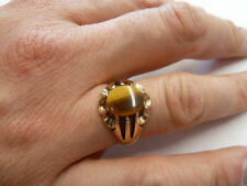 Tiger's Eye Signet Fine Rings