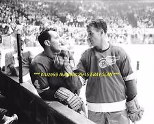 GORDIE HOWE Play PUNCHES Teammate GADSBY 8x10 Photo DETROIT RED WINGS HOF GREAT
