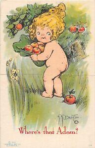 H71/ Interesting Postcard c1910 Artist Signed Drayton Wiederseim Die-Cut22