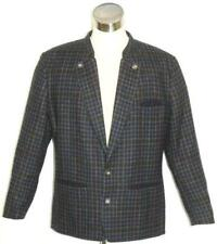 "Plaid Tweed WOOL Jacket Sport Blazer Winter Men German Over Coat Eu52 c47"" L"