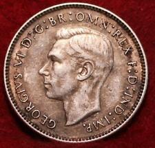 1942 Australia 6 Pence Silver Foreign Coin