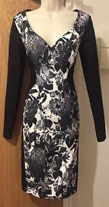 STELLA MCCARTNEY Henrietta Illusion Black & White Dress - IT 42/UK 12