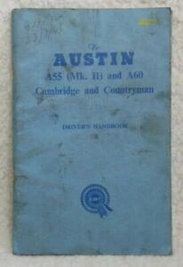 Austin A55 (Mk II) & A60 Cambridge and Countryman Drivers Handbook, Sound