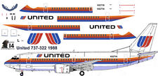 United Saul Bass Boeing 737-300 decals for Minicraft 1/144 kit