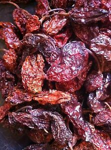Smoked Bhut Jolokia Ghost Pods NagaLand - The Hot Pepper Company