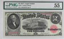1917 $2 Legal Tender FR-57 - Graded PMG 55 - About Uncirculated