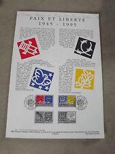 Collection Historique Timbre Poste 1er Jour : 29/05/95 - PAIX ET LIBRTE 1945 -95