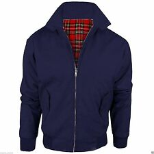 NEW MENS HARRINGTON JACKET  CLASSIC TRENDY VINTAGE RETRO SCOOTER 1970'S BOMBER
