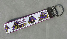Handcrafted NCAA ECU East Carolina University Pirates Key Chain Wristlet NEW