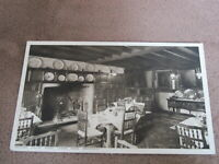 Early Worcestershire postcard - Dining room - Lygon Arms pub - Broadway