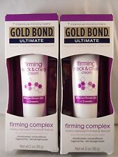 Gold Bond Ultimate Firming Neck & Chest Cream 2 Oz Ea (2PK BUNDLE) FRESH & NEW