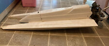 Vintage White Racing Boat Kb 7.5 Engine 34 Inches Long 14 Inches Wide