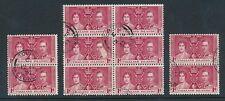 George VI (1936-1952) Falkland Island Stamp Blocks