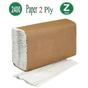 Z Fold Paper Hand Towels Tissue Blue Qty 2400 Z Fold 2 Ply Size 215mm x 240mm