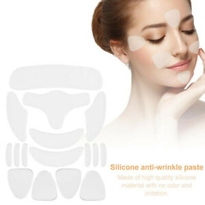 16Pcs Silicone Face Eye Forehead Anti Wrinkle Patches Reusable Lifting Pad Set