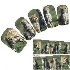 Tattoo Nail Art Aufkleber Löwe Lion Leopard Nagel Sticker Glitzer Neu!