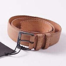 NWT $695 KITON NAPOLI Textured Peach Pink Calf Leather Belt 36 W (Eu 90cm)