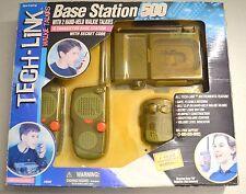 DSI Electronics Vintage Tech-Link 2 Hand Held Walkie Talkies / 1 Base Station