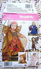 """1134/0671 SEWING PATTERN~UNCUT~18"""" AMERICAN GIRL DOLL CLOTHES:FAIRY COSTUMES+"""