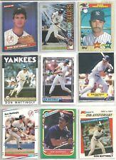 Don Mattingly 33-card New York Yankees Baseball Lot
