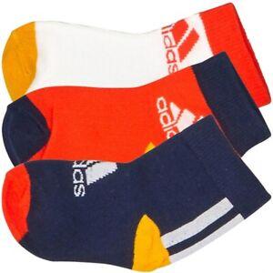 adidas Kids Ankle Socks 3 Pairs RRP £10 Brand New ED8616