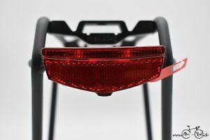 ⭐2021 FALKx 2LED Fahrrad Batterie Slim Rücklicht - Gepäckträger 50mm/80mm Mont.⭐