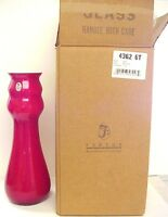Fenton Red Sparkle Milk Glass Mica & Ruby Vase Horizons New MIB Limited Edition