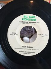 HOLLIS MORGAN 45 Chattanooga ShoeShine Boy PRIVATE TEXAS ROCKABILLY BILL DAVIS