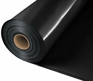 Damp Proof Membrane Black Polythene Sheeting Roll DPM 4m 5m Wide 300MU BRICK