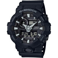 Casio Men's 53 mm G-Shock LED Water-Resistant 200M Analog Digital Watch, Black