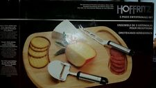 """VINTAGE """"NEW"""" WOOD TRAY MEAT CHEESE BOARD *Hoffritz Brand"""