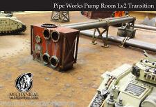 Pipe works Pump Room Lv2 kit: 40k Infinity 28mm terrain Dark Age Dust Tactics
