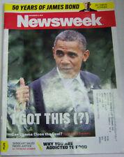 News Week Magazine Barack Obama, 50 Years Of James Bond November 2012 012813R