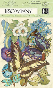 Botanical 84 pcs Susan Winget Scrapbook Die Cuts K&Company NEW 30-614543