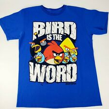 Angry Birds The Bird Is The Word Blue T-Shirt  Men's Size M