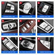 Switch Button Trim For BMW 5 Series F10 Headlight/Window/Engine/Handbrake Auto