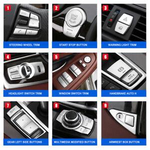 Switch Button Trim For BMW 5 Series F10 Headlight/Window/Engine/Handbrake Auto
