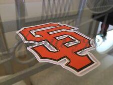 San Francisco Giants Black / Orange SF Logo Sticker Decal Vinyl MLB McCovey Cove