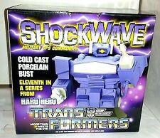 Hard Hero The Transformers Shockwave Cold Cast Porcelain Bust 586/2500
