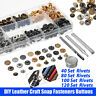 12.5mm Metal Strong Snap Fastener Buttons Canvas Leather Tool Press Stud Kit Set