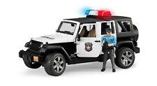 BRUDER 2526 JEEP WRANGLER UNLIMITED RUBICON VEICOLO DI POLIZIA CON POLIZIOTTO