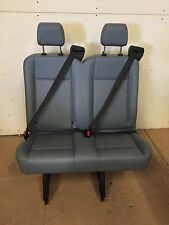 2015 Ford Transit Van 2 Person Bench Seat Gray Vinil INV#3 with Brackets