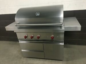 """Wolf OG42 - 42"""" Outdoor Built-In Natural Gas Grill With Cart"""